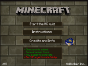 play Minecraft Quiz v0.5